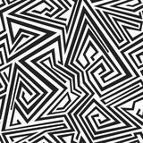 Monochrome spiral lines seamless pattern Stock Photo