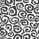Monochrome spiral seamless pattern Royalty Free Stock Photos
