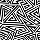 Monochrome spiral triangle seamless pattern Stock Image