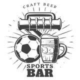 Monochrome Sport Pub Template Royalty Free Stock Photo
