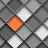 Monochrome square cells Royalty Free Stock Photography