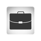 Monochrome square frame with silhouette briefcase executive icon Royalty Free Stock Photography
