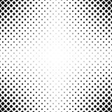 Monochrome square pattern - abstract vector background graphic from angular rounded squares. Monochrome square pattern - geometrical halftone abstract vector Royalty Free Stock Photography