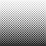 Monochrome square pattern background - black and white geometric vector illustration from rounded squares Stock Photo