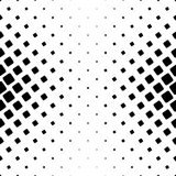 Monochrome square pattern - geometrical halftone abstract vector background from angular rounded squares Stock Image