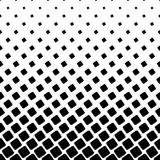 Monochrome square pattern - halftone abstract vector background graphic from angular rounded squares. Monochrome square pattern - geometrical halftone abstract Royalty Free Stock Photography