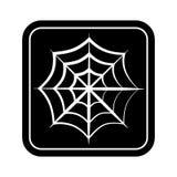 Monochrome square silhouette with spiderweb Stock Photography