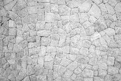 Monochrome of stone wall texture background Royalty Free Stock Photography