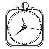 Monochrome stopwatch in shape square Stock Photos