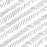 Monochrome striped линии предпосылка Шевронная monochrome текстура Безшовной нарисованная рукой картина вектора стоковые изображения