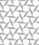 Monochrome striped blocks forming triangles and hexagons Stock Photography