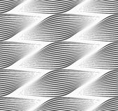 Monochrome striped egg shapes Stock Photography
