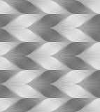 Monochrome striped light and dark chevron Royalty Free Stock Photography