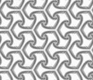 Monochrome striped offset tetrapods Stock Images