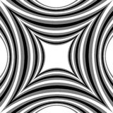 Monochrome Striped  Pattern of Concave Rectangle Gently Shimmering from  light to dark. Visual Volume Effect.  Polygonal Geometric Royalty Free Stock Image