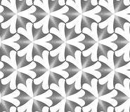 Monochrome striped pointy three pedal flowers Stock Images