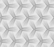 Monochrome striped three pedal flowers Royalty Free Stock Photography