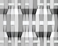 Monochrome stripes seamless pattern. Stock Image