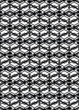 Monochrome symmetric seamless pattern with parallel lines, black Stock Image