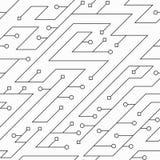 Monochrome tech seamless pattern Royalty Free Stock Image