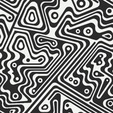 Monochrome technology seamless pattern Royalty Free Stock Photography