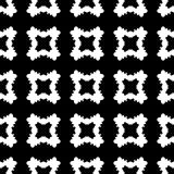 Monochrome texture, black & white smooth carved quadrangles. Geometric seamless pattern, abstract monochrome texture with black & white smooth carved Stock Photo