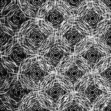 Monochrome texture with random octagons. Edgy, angular fashion. Stock Photography