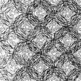 Monochrome texture with random octagons. Edgy, angular fashion. Stock Photo
