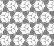 Monochrome three pedal flowers with dark triangles Royalty Free Stock Image