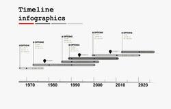 Monochrome Timeline Infographic Stock Photo