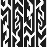 Monochrome totem seamless pattern Royalty Free Stock Photography