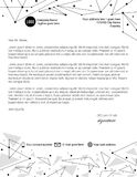 Monochrome triangle shapes and lines letterhead template. Design Stock Images