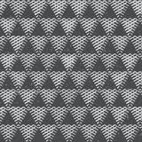 Monochrome triangles with grunge effect. Seamless pattern. Royalty Free Stock Photography