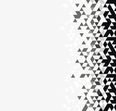 Monochrome triangular background Royalty Free Stock Photo