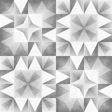Monochrome Tribal Seamless Pattern. Aztec Style Abstract Geometric Art Print. Royalty Free Stock Images