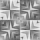 Monochrome Tribal Seamless Pattern. Aztec Style Abstract Geometric Art Print. Royalty Free Stock Image