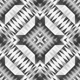 Monochrome Tribal Seamless Pattern. Aztec Style Abstract Geometric Art Print. Vector Illustration