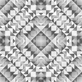 Monochrome Tribal Seamless Pattern. Aztec Style Abstract Geometric Art Print. Royalty Free Stock Photos