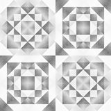 Monochrome Tribal Seamless Pattern. Aztec Style Abstract Geometric Art Print. Stock Images