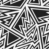 Monochrome tribal seamless pattern Stock Images