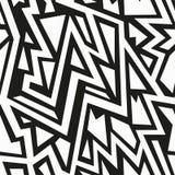Monochrome tribal seamless pattern Stock Photo