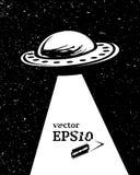 Monochrome UFO invasion Royalty Free Stock Photos