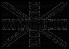 Monochrome United Kingdom Text Flag Royalty Free Stock Photo