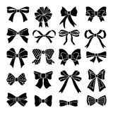 Monochrome vector bows and ribbons set. Holiday illustrations isolate royalty free illustration