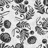 Monochrome vector pattern Royalty Free Stock Photos