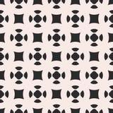 Monochrome vector seamless pattern, simple geometric figures, sm Royalty Free Stock Photos