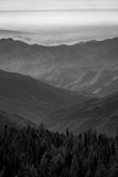 Monochrome view from Sequoia National Park Stock Image