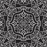 Monochrome vintage fantasy seamless vector pattern royalty free illustration