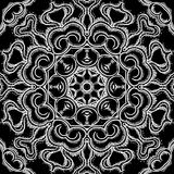 Monochrome vintage oriental circle background Royalty Free Stock Photos
