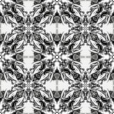 Monochrome vintage tribal seamless pattern vector illustration Royalty Free Stock Images